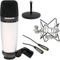 Microfono Samson C03 + Shock Mount + Cable + Pie De Mesa