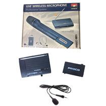 Microfono Inalambrico Vhf Corbatero Proco - Garantia -