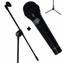 Combo Micrófono Profesional + Pie Plegable C/ Cable Y Pipeta