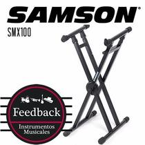 Samson Smx100 - Soporte Tipo X P/mixer, Pata Doble Regulable