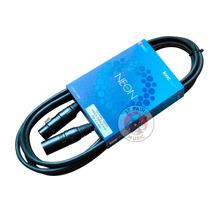 Cable Microfono Kwc Neon 121 Canon/canon 3 Mts Envios