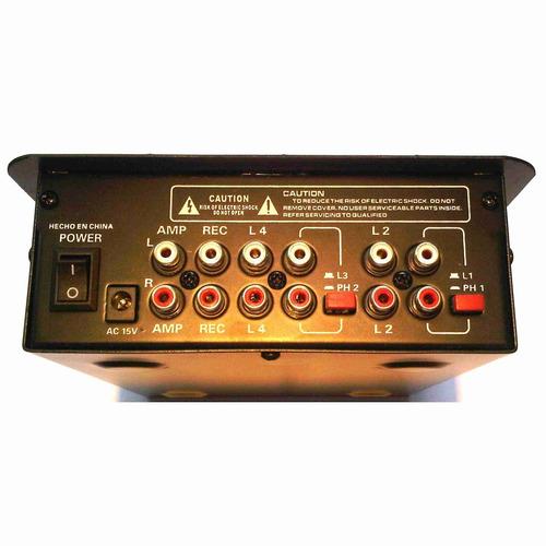 Mixer Mezclador De 2 Canales Y Puerto Usb Jahro Mpa-7020 Usb