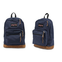 Mochilas Jansport Portanotebook Tela Y Cuero 100% Originales
