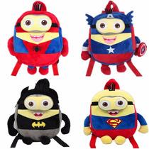 Mochila Minions Superheroes Batman Superman Cap America