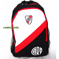 Mochila Oficial River Plate C/ Porta Notebook 1ra Calidad