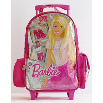Mochila Barbie Grande Con Carro 16710