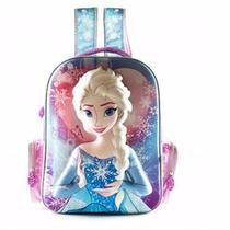 Mochila Espalda Frozen Elsa Termoformada Wabro 3 D Original