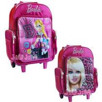 Mochila Barbie Con Carro Reforzado Tapa Rebatibe 18