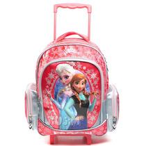 Mochila Carro Grande 16´ Infantil Escolar Frozen Lujo Jiujim