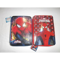 Hombre Araña-spiderman-cartuchera 3 Pisos-tapas Metalicas!