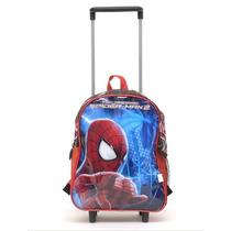 Mochila De Carrito Spiderman Jardin Licencia Original 12