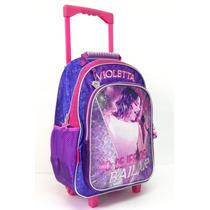 Mochila Con Carro Violetta Con Licencia Disney Original 16