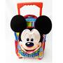 Mochila 12 Pulgadas Disney Mickey Carro Escolar Varon