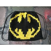 Mochilas Al Crochet Superman,batman