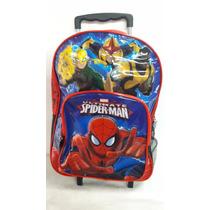 Mochila Carro Spiderman 16p Grande Original - Mundo Team
