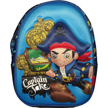 Mochila Jake Y Los Piratas Original Semi Rigida Con Relieve