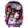 Mochila Carro Monster High 18 Pulgadas Original Mundo Manias