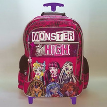 Mochila Monster High 18 Pulgadas Con Carro Dm536