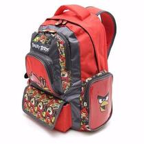 Mochila Angry Birds 16 - Color Roja Con Estampa