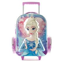 Mochila Escolar Elsa Frozen Con Carro 17 Pulgadas Disney
