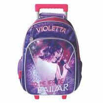 Mochila Violetta Violeta Disney 16 Ruedas-carrito Belgrano R