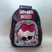 Mochila Monster High 16 Espalda Liciencia Original