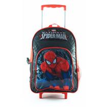 Mochila Spiderman 16 Pulgadas Con Carro - Licencia Original