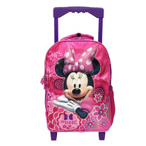 Mochila Con Carro Minnie Con Licencia Disney Original 12