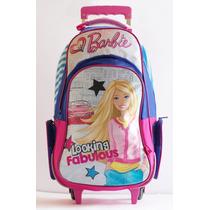 Mochila Barbie Grande Con Carro 16789