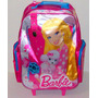 Mochila Barbie Carro Grande 18 Calid Original Con Licencia