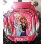 Mochila Frozen Ana Elsa Disney Carro Lujo 12 Pulgadas