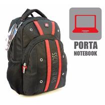 Mochila Porta Notebook Swiss Cross Urbana Reforzada