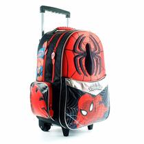 Mochila Carro Spiderman Hombre Araña 18 Pulg Original 2016