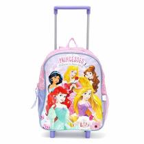 Mochila Princesas Disney 12 Con Carrito Wabro Orig Urquiza