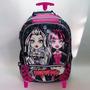 Mochila Con Carro Monster High Original 18
