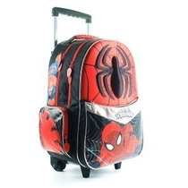 Mochila Carro Spiderman 18p Grande Original - Mundo Team
