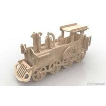 Rompecabezas 3d - Locomotora Para Armar