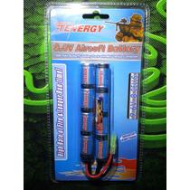 Baterias Tenergy Ni-mh Nueva Nunchuk 9.6v 1,600mah Airsoft