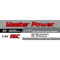 Bateria Lipo 7.4v 3400mah 25c - Masterpower