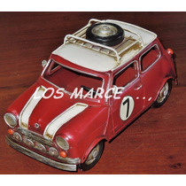 Mini Cooper Auto De Chapa Retro Vintage Decoracion Avion
