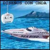 Lancha De Juguete Control Remoto Alcance 60mts Sea Bird 1:25