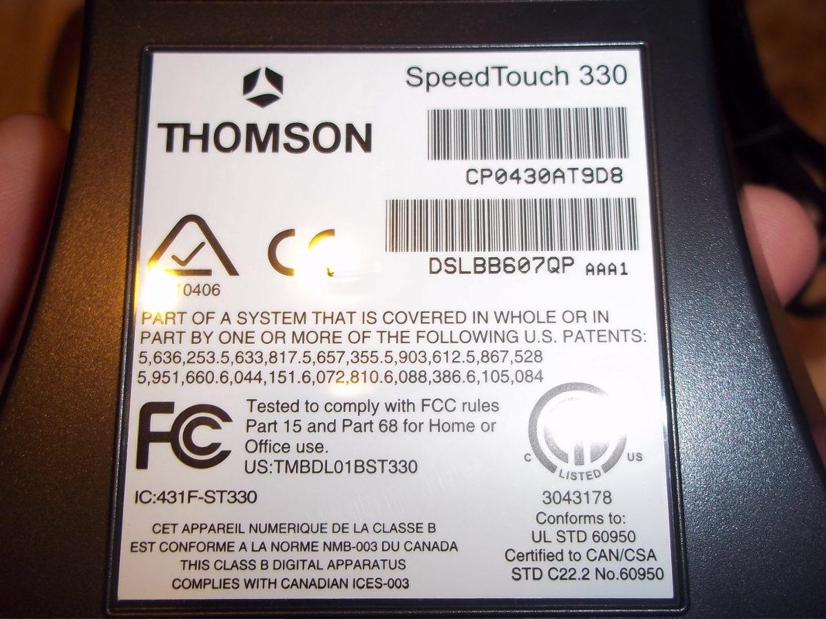 adsl usb speedtouch 330: