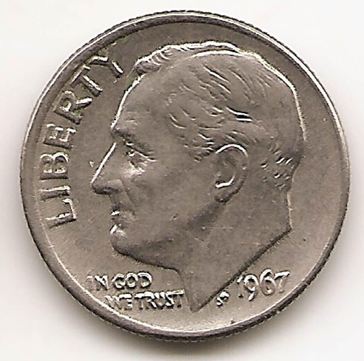 Moneda de Diez Centavos Valor de Moneda de Diez