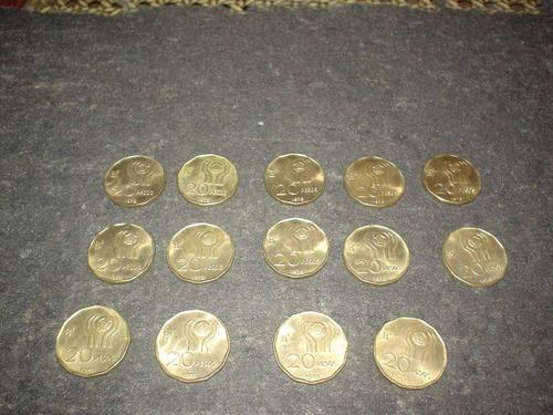 20 monedas: