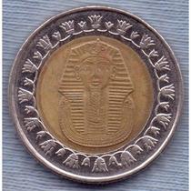 Egipto 1 Pound 2008 * Bimetalica * Tutankamon *