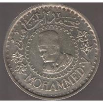 Marruecos 500 Francos 1956 Plata Exc