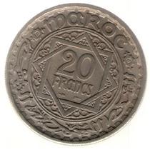 Marruecos 20 Francos Ah 1366 Km #45 S/c