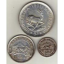 Monedas De Africa - 5 Shillings / 0,50 - 1 Florin De Plata