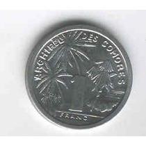 Moneda De Comores De 1 Franco Año 1964 Sin Circular