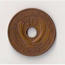 Africa Del Este Britanica Moneda De 10 Cents Año 1937